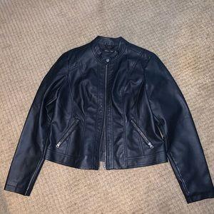 Large Baccini Faux Leather Jacket